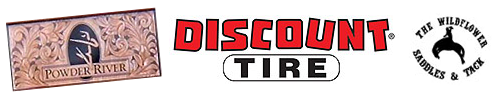 Blue Allen Sponsors: Discount Tire, Powder River Hats, Wildflower Saddles and Tack
